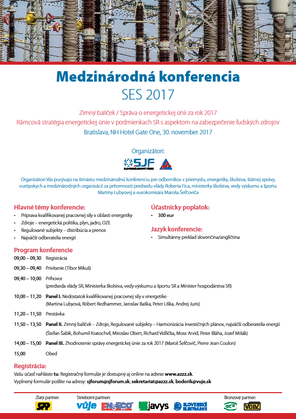 Medzinárodná konferencia SES 2017