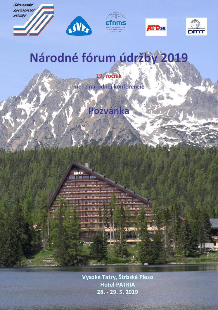 Národné fórum údržby 2019